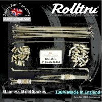 """RG1-8-SSP 19"""" Premium Butted Stainless Steel Spoke Set for Rudge 8"""" Single Sided Hubs"""