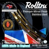 "RG1-SS 19"" WM2 Rolltru Premium Stainless Rim to suit Rudge 8"" Single Sided & QD Hubs"