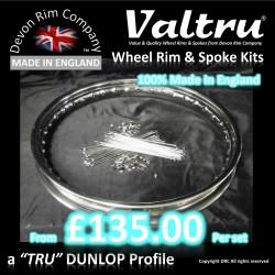 Valtru Stainless Rim & Spoke Kits - From £135.00
