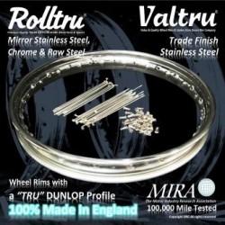 Ariel Rolltru & Valtru Dunlop Profile Rim, Spoke & Nipple Kits