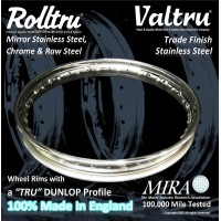Dunlop Classic Profile Rims Only - Stainless, Chrome & Raw Steel