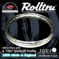 "N15-SS 19"" WM2 Rolltru Premium Stainless Rim for Norton Cotton Real Spool Rear"