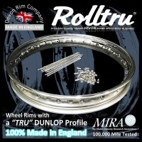 "AA15-SS-KIT 19"" WM2 Rolltru Premium Stainless Rim & Spoke Kit for Ariel 7"" Single Sided Front Hub"