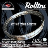 """AA17-CH-KIT 18"""" WM3 Rolltru Chrome Rim & Spoke Kit for Ariel QD Rear hub"""