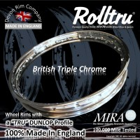 """AA17-CH 18"""" WM3 Rolltru Chrome Rim for Ariel QD Rear hub"""