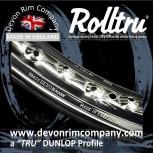 """MB13-CH 17"""" WM2 Rolltru British Chrome Rim for 7"""" SLS & TLS CAST HUBS"""