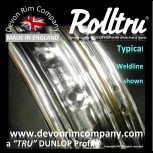 "AA18-CH 16"" WM2 Rolltru British Chrome Rim for Ariel Arrow or Leader Full Width F or R"