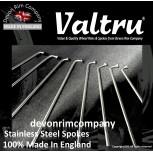 "RG1-INT-VTSSP 19"" Valtru Stainless Steel Spoke Set for Rudge Interchangeable QD Hubs"