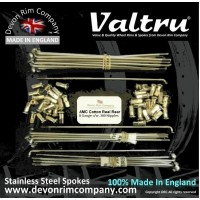 AMC4-VTSSP Valtru Stainless Steel Spoke Set for 3.1'' WIDE AMC COTTON REEL / SPOOL HUB 19'' RIM