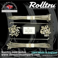 AMC4-SSP Rolltru Stainless Steel Spoke Set for 3.1'' WIDE AMC COTTON REEL / SPOOL HUB 19'' RIM
