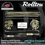 """AA17W-KIT 18"""" WM3 Valtru Stainless Rim & Spoke Kit for Wide Rear"""