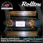 AA17-SSP STAINLESS STEEL SPOKES FOR ARIEL QD REAR 18'' RIM **40 HOLE**
