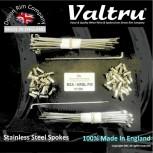 "MB22-A-KIT 19"" WM2 Valtru Stainless Rim & Spoke Kit for BSA - Ariel Alloy Full Width - KITS"
