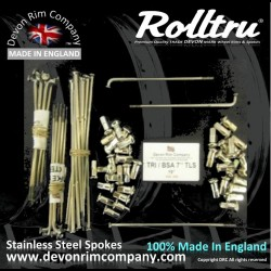 MB11-7-TLS-SSP STAINLESS STEEL SPOKES FOR TRI / BSA 7'' TWIN LEADING SHOE STYLE ON 19'' RIM