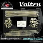 "BSA15-KIT 19"" WM2 Valtru Stainless Rim & Spoke Kit for BSA 7"" Half Width Hub"