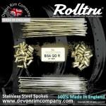 BSA16-SSP DEVON Rolltru STAINLESS STEEL SPOKES FOR BSA QD / CRINKLE REAR 19'' RIM