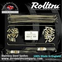 BSA18-SSP STAINLESS STEEL SPOKES FOR BSA 8'' SINGLE SIDED FRONT HUB 19'' RIM