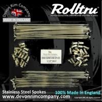 "BSA2-SSP 19"" Rolltru Premium Stainless Steel Spoke Set for Early Bantam D1 - D3 Single Sided Front Hubs ** 36 Hole **"