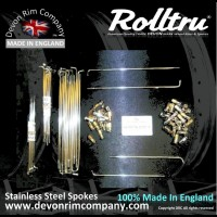 N10-SSP STAINLESS STEEL SPOKES FOR NORTON DISC REAR ON 18'' RIM