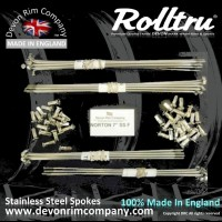 N12-SSP STAINLESS STEEL SPOKES FOR NORTON 7'' SINGLE SIDED FRONT ON 21'' RIM