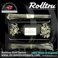 N16-EQ-SSP STAINLESS STEEL SPOKES FOR EQUAL FLANGE NORTON COTTON REEL REAR ON 20'' RIM