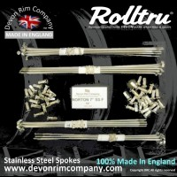N7-SSP STAINLESS STEEL SPOKES FOR NORTON 7'' SINGLE SIDED FRONT ON 19'' RIM