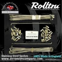 """VEL7-SSP 18"""" Rolltru Stainless Steel Spoke Set for LE & VALIANT 18'' RIM **40 HOLE**"""