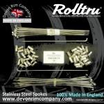 VIN4-SSP STAINLESS STEEL SPOKES FOR 19'' REAR RIM
